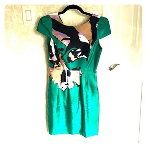 Gorgeous silk cap sleeve dress by Tibi